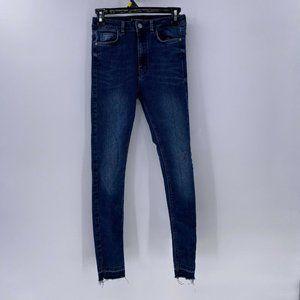 ZARA trafaluc denimwear skinny jeans released hems
